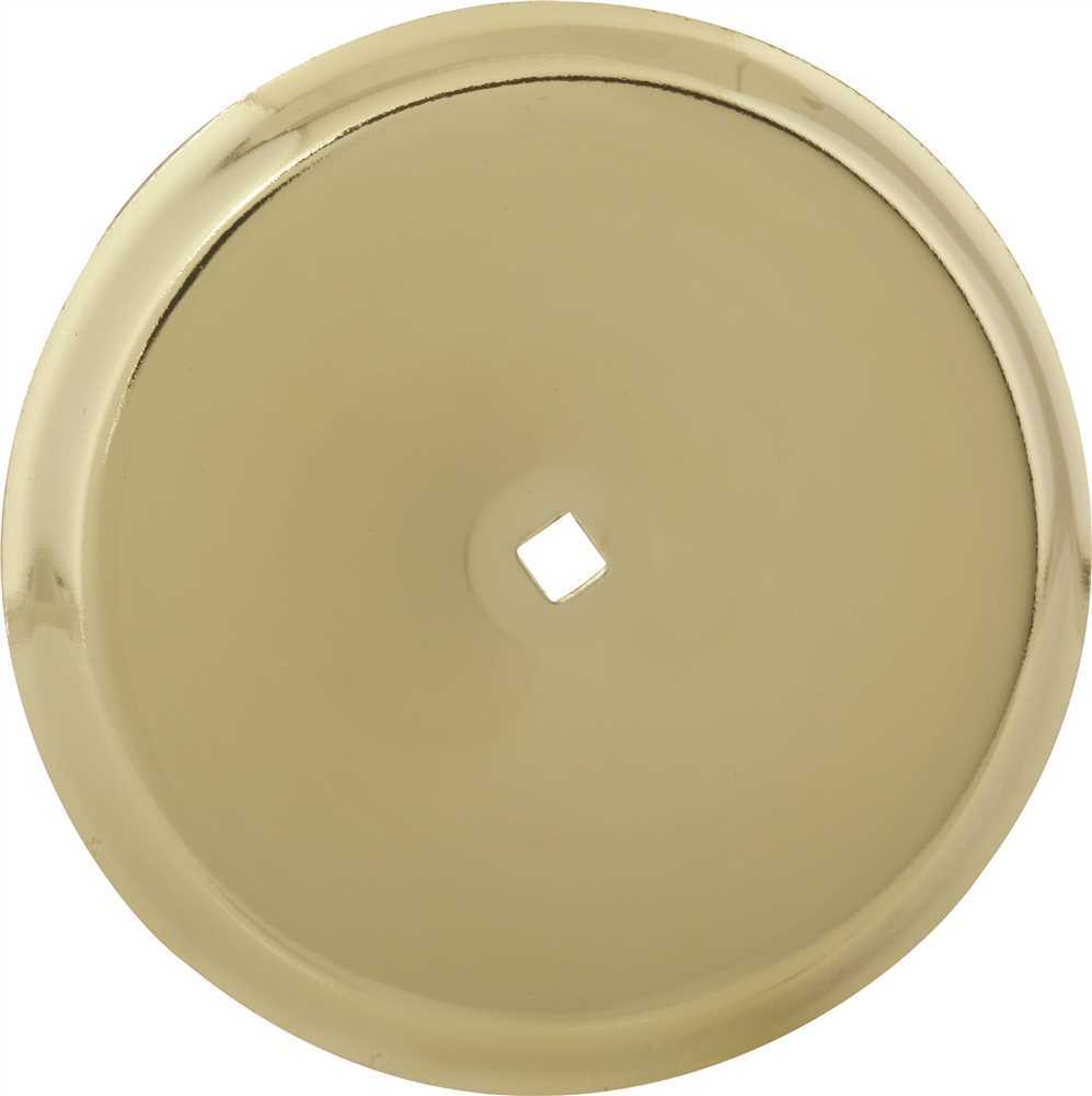 ANVIL MARK� BACKPLATE, 2-3/4 IN. DIAMETER, POLISHED BRASS, 5 PER PACK