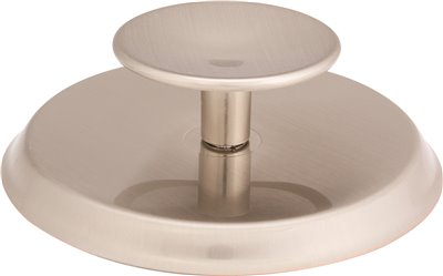 ANVIL MARK� KNOB AND BACKPLATE, 2-3/4 IN. DIAMETER, SATIN NICKEL, 25 PER PACK
