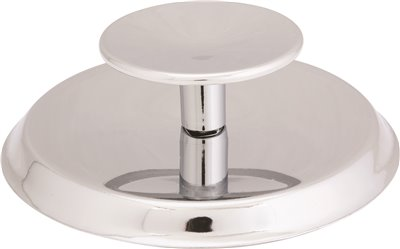 ANVIL MARK� KNOB AND BACKPLATE, 2-3/4 IN. DIAMETER, POLISHED CHROME, 5 PER PACK