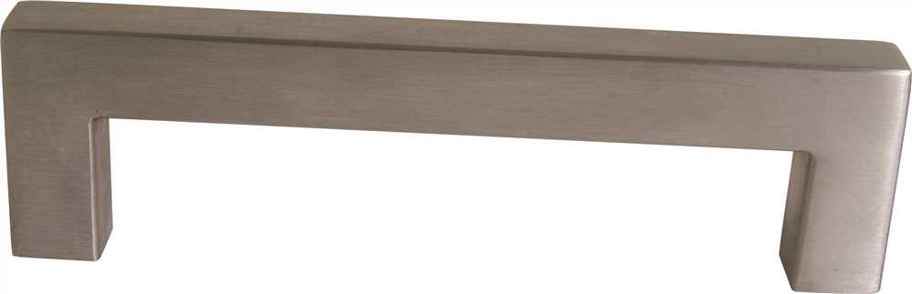 DESIGN HOUSE� DECORATIVE SQUARE DRAWER PULL, 5-1/2 IN., HOLLOW STAINLESS STEEL, 5 PER PACK