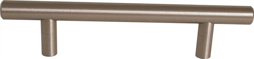 ANVIL MARK� HOLLOW BAR PULL, 4 IN., SATIN NICKEL, 5 PER PACK