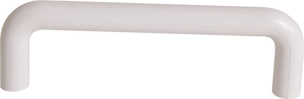 DESIGN HOUSE� DECORATIVE DRAWER PULL, 4 IN., WHITE PLASTIC, 5 PER PACK