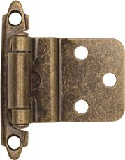 ANVIL MARK� SELF-CLOSING CABINET HINGE, 1-1/2 IN., 3/8 IN. INSET, ANTIQUE BRASS, 10 PER PACK