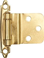 ANVIL MARK� SELF-CLOSING CABINET HINGE, 1-1/2 IN., 3/8 IN. INSET, POLISHED BRASS, 10 PER PACK