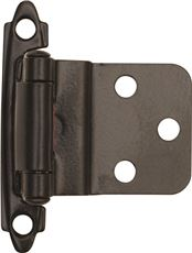 ANVIL MARK� SELF-CLOSING CABINET HINGE, 1-1/2 IN., 3/8 IN. INSET, OIL RUBBED BRONZE, 10 PER PACK
