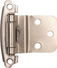 ANVIL MARK� SELF-CLOSING CABINET HINGE, 1-1/2 IN., 3/8 IN. INSET, SATIN NICKEL, 10 PER PACK