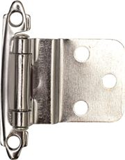 ANVIL MARK� SELF-CLOSING CABINET HINGE, 1-1/2 IN., 3/8 IN. INSET, POLISHED CHROME, 10 PER PACK