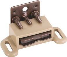 ANVIL MARK� MAGNETIC CABINET CATCH, TAN, 5 PER PACK
