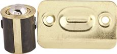 ANVIL MARK� CABINET DRIVE-IN BULLET BALL CATCH, BRASS PLATED, 5 PER PACK
