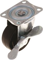 INDUSTRIAL SWIVEL CASTER WITH BRAKE, 2 IN.