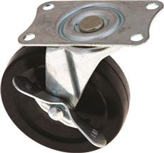 INDUSTRIAL SWIVEL CASTER WITH BRAKE, 2-1/2 IN.