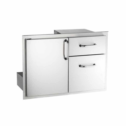 18X30 Door with Double Drawer, Tubular stainless steel handles, double wall construction