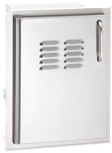 20 x 14 Single Access Door with Tank Tray & Louvers, Left Hinge, Tubular stainless steel handles, double wall construction