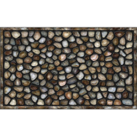 Apache Mills AP759-1029F Masterpiece Door Mat, 30 in L X 18 in W, Recycled Rubber