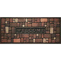 Tri-Rb AP-763-1029 Door Mat, 48 in L x 21 in W x 3/8 in T, Rubber
