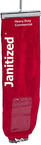 JANITIZED� EUREKA SANITAIRE RED COTTON/SMS LINED UPRIGHT CLOTH BAG WITH LOCK TOP LOAD NO ZIPPER 25 PCS/CASE. OEM# 53354-3
