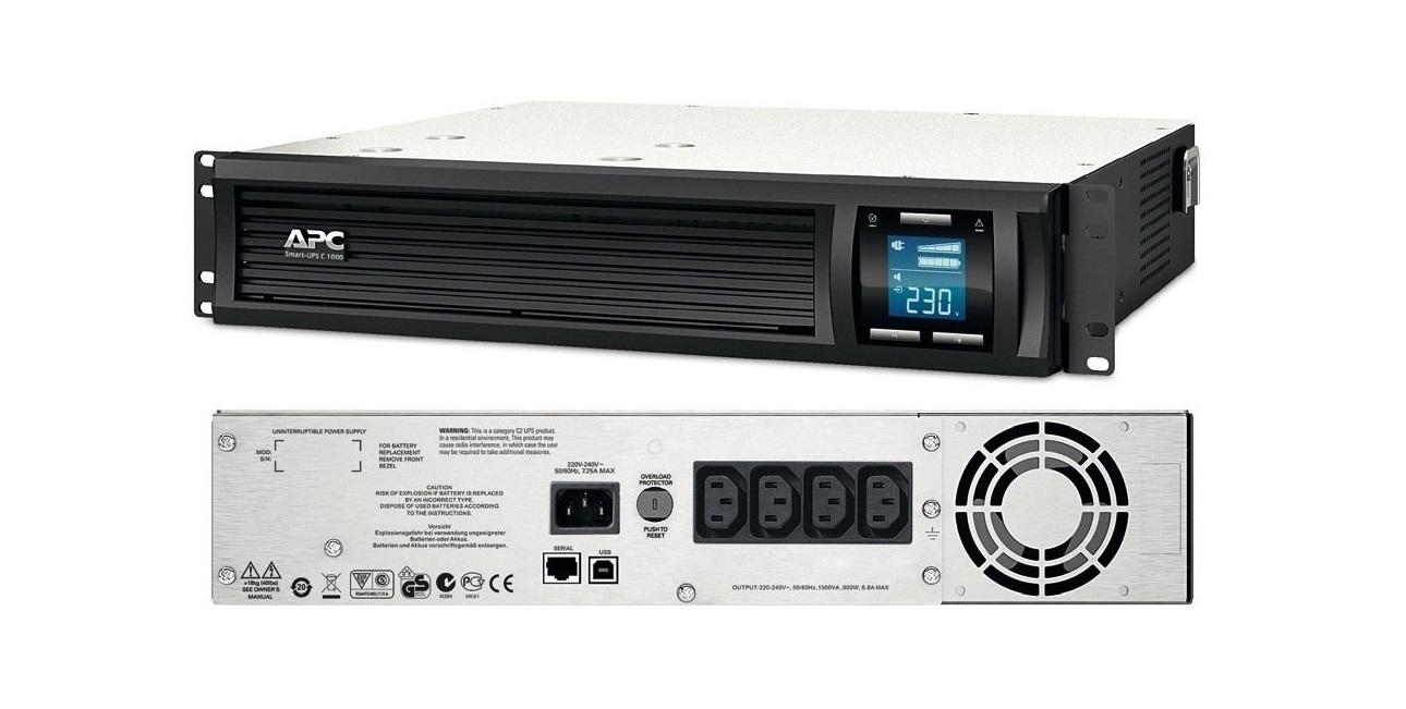 APC Smart-UPS C 1500VA 900W 230V RM 2U Rack Mountable UPS SMC1500I-2U