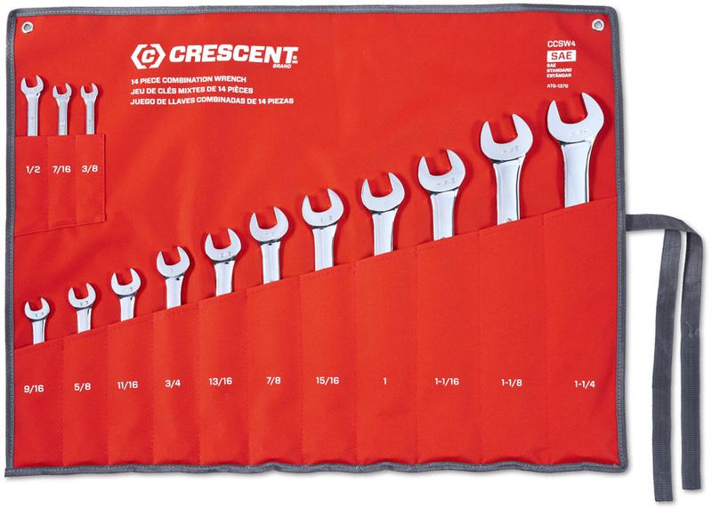 CCWS4 SAE COMBO WRENCH SET