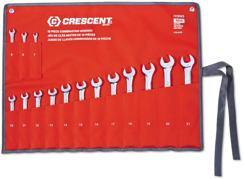 CCWS5 MET COMBO WRENCH SET