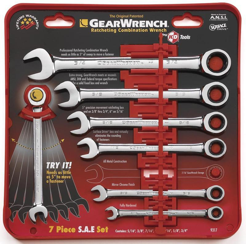 Eht9317 7 Piece Ratchet Wrench Set