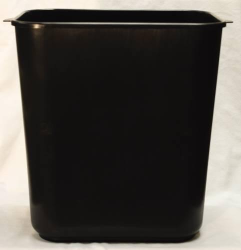 APPEAL� PLASTIC TRASH CAN, BLACK, 13-5/8 QUARTS