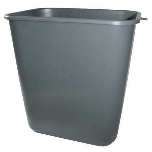 APPEAL PLASTIC TRASH CAN, GRAY, 28-1/8 QUARTS