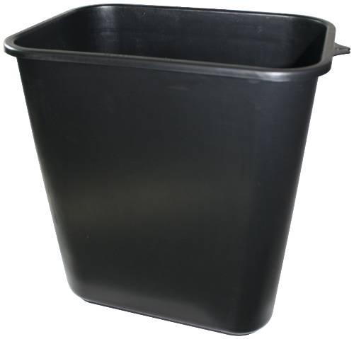 APPEAL PLASTIC TRASH CAN, BLACK, 28-1/8 QUARTS