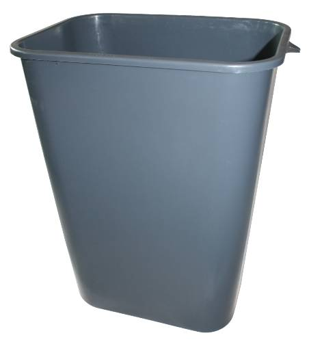 APPEAL PLASTIC TRASH CAN, GRAY, 41-1/4 QUARTS