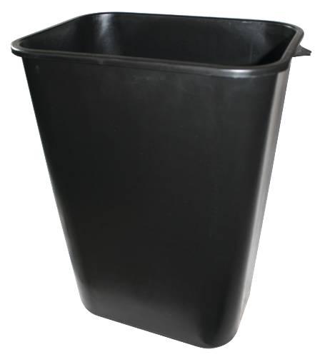APPEAL PLASTIC TRASH CAN, BLACK, 41-1/4 QUARTS