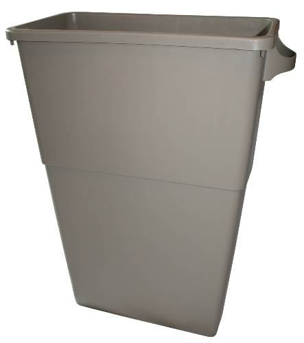 APPEAL TRIMLINE TRASH CAN, BEIGE, 23 GALLONS