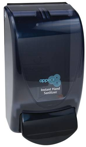 APPEAL HAND SANITIZER DISPENER, BLACK, 1,000ML