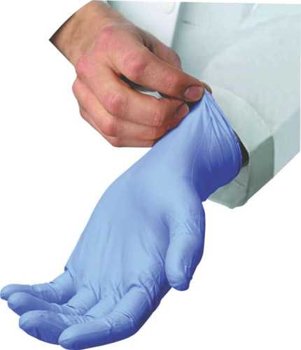 RENOWN� DISPOSABLE POWDER-FREE EXAM-GRADE NITRILE GLOVES, LARGE, 3MIL, 100 PER BOX