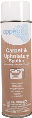 APPEAL� CARPET AND UPHOLSTERY SPOT REMOVER, CLEAR, BUTYL SCENT, 20 OZ.