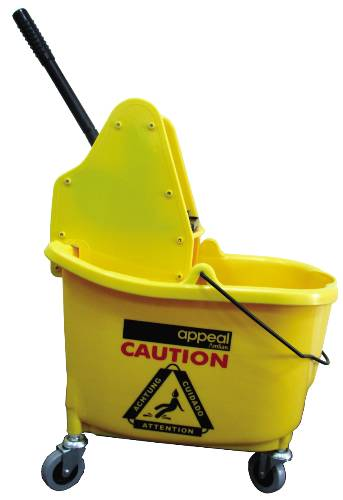 APPEAL� DOWN-PRESS MOP BUCKET COMBO, YELLOW, 35 QUARTS