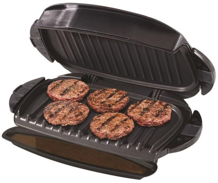 George Foreman GRP0004B 5-Serving Removable Plate Grill, 72 sq-in, Black