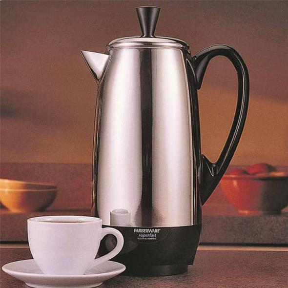 APPLICA CONSUMER PRODUCTS Fcp412 Percolator, 1000 W, Stainless Steel