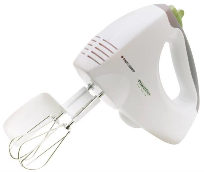 250W 6-Speed Hand Mixer, White