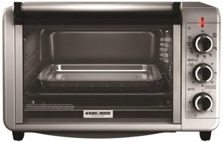 Black & Decker TO3210SSD Toaster Oven, 6 Slice, 1500 W, 60 min