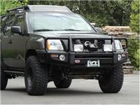 Black Nissan Xterra Deluxe Bull Bar Winch Mount Bumper