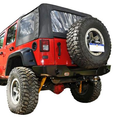 Jeep Wrangler Spare Tire Carrier in Black Powder Coat