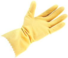 PROGUARD� UNLINED LATEX GLOVES, LARGE, 18 MIL