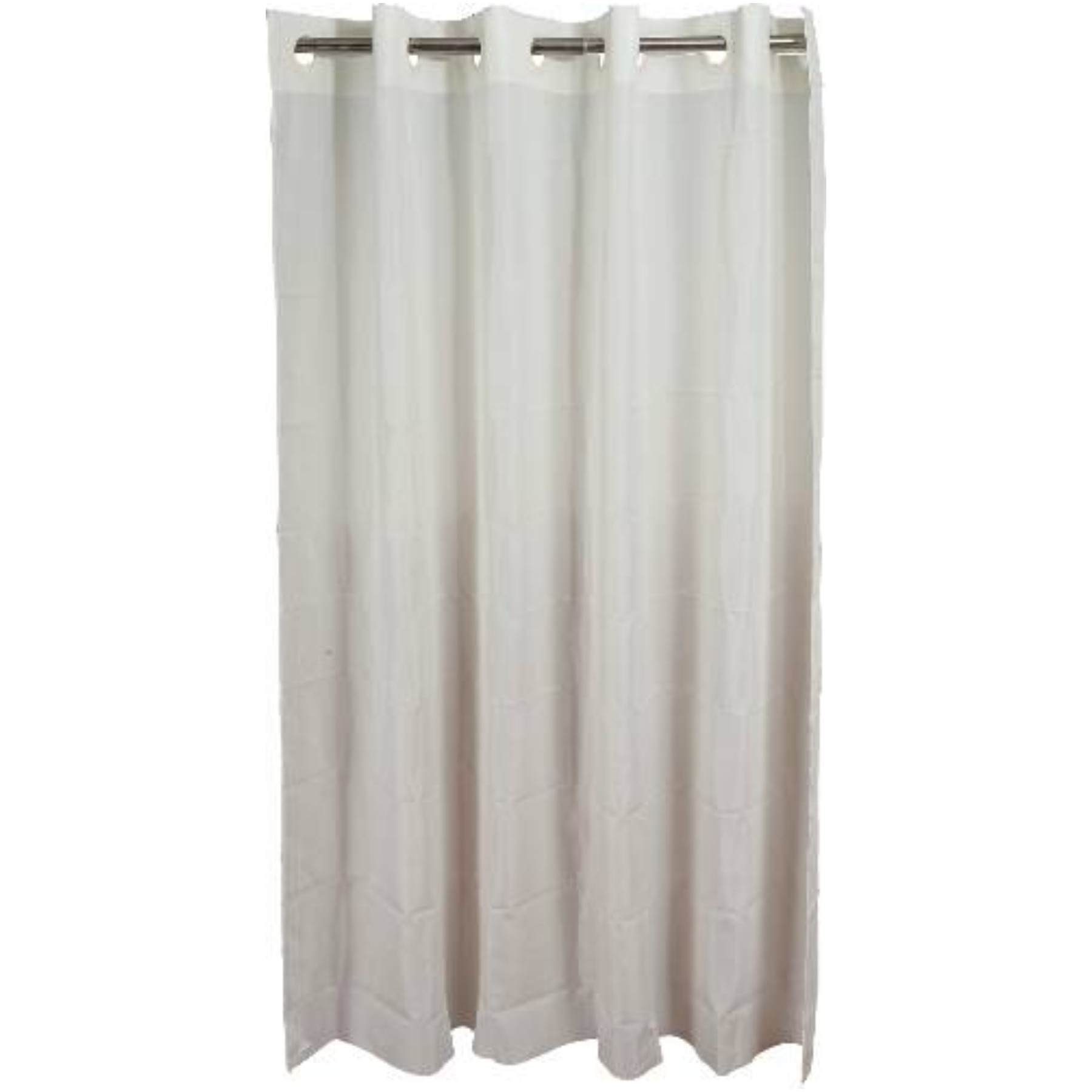 HOOKLESS SHOWER CURTAIN WITH PLAIN WEAVE FABRIC  BEIGE