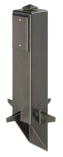 OUTDOOR LIGHT FIXTURE WITH GFCI SUPPORT POST 19-1/2 IN. BLACK