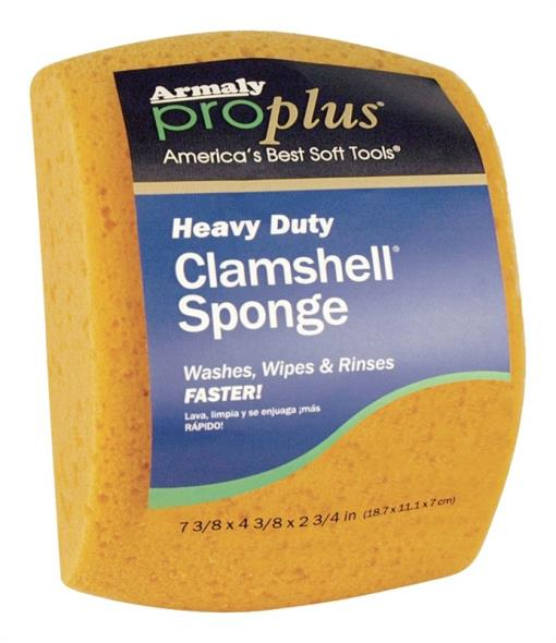 Aqua HC3 Cleaning Sponge, 7-3/8 in L x 4 in W, 2-1/2 in T, Hydrophilated Polyester, Yellow