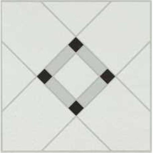 ARMSTRONG� LATTICE LANE UNITS RESIDENTIAL NO-WAX SELF-ADHESIVE VINYL FLOOR TILE, BLACK/WHITE, 12X12 IN., .045 GAUGE