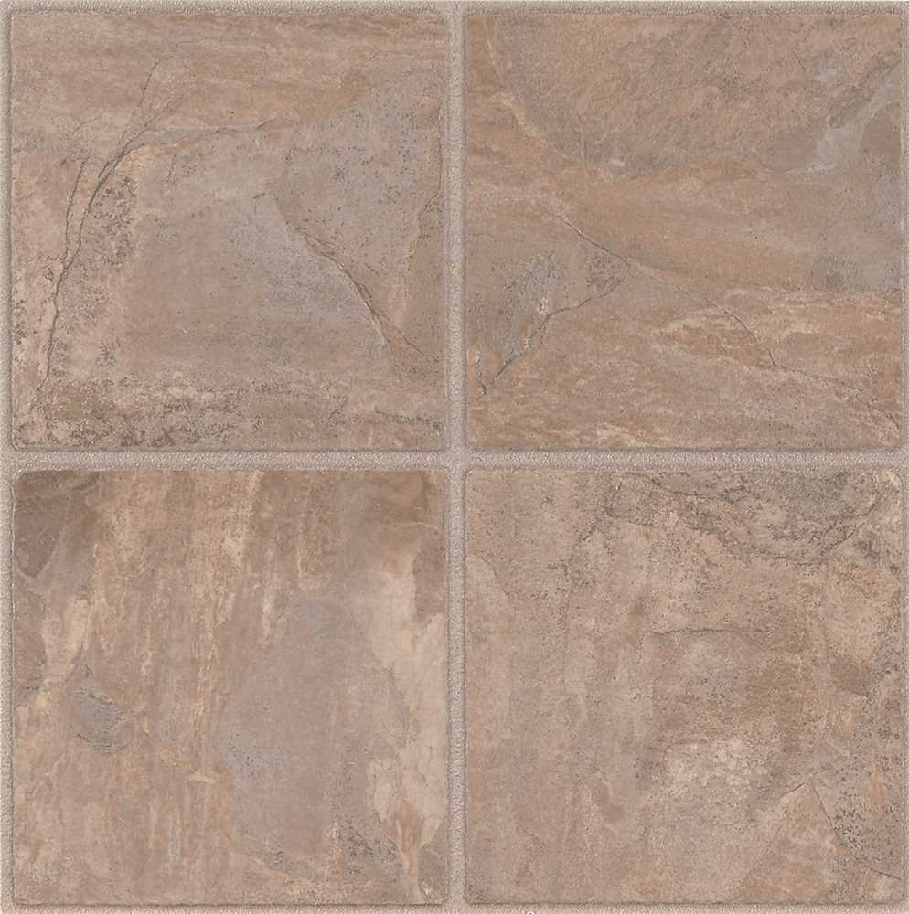 ARMSTRONG PEEL N' STICK TILE 12 IN. X 12 IN. CHISELED STONE CLIFFSTONE 6 IN. PAVER 1.65MM (0.065 IN.) / 45 SQ. FT. PER CASE