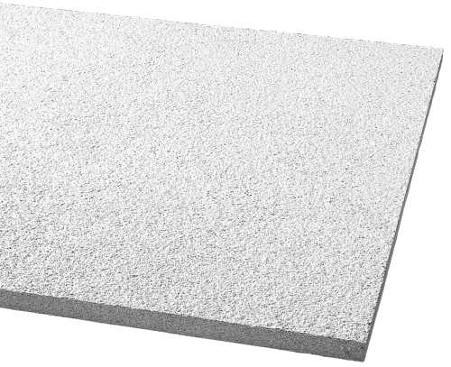 ARMSTRONG� ACOUSTICAL CEILING TILE CIRRUS SQUARE LAY IN, 48X24X3/4 IN., 533B