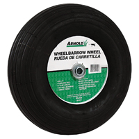 Arnold WB-436 2-Ply Pneumatic Ribbed Tread Replacement Wheelbarrow Tire, For Use With Wheelbarrows