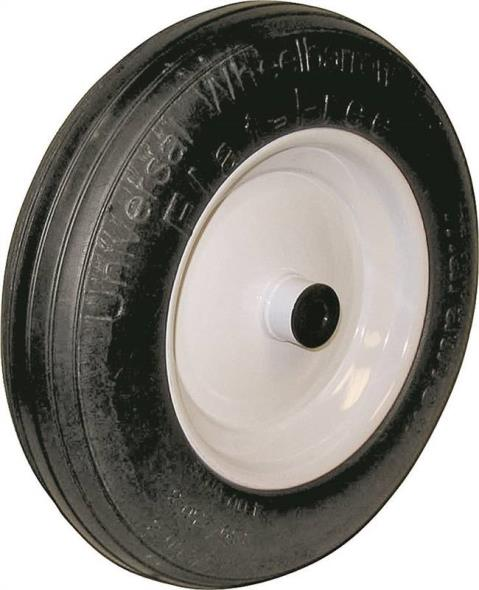 Arnold 00270 Center Hubbed Flat Free Universal Wheelbarrow Tire, For Use With Wheelbarrows