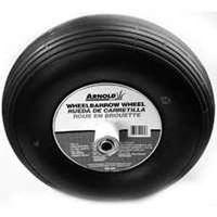 Arnold WB-466 2-Ply Ribbed Tread Wheelbarrow Wheel, 400 X 6 in, 14 in Dia, 445 lb